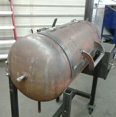 Almost done with the latest project, a reverse flow bbq smoker.