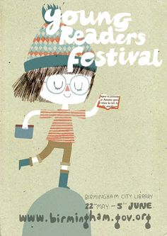 Young Readers Festival poster by Kate Hindley