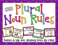 Plural Noun Rules {Free Posters}