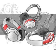 Headphones sketch by Joost van Leeuwen