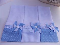 Fraldas Decoradas com aplique ou bordado.  Kit com 3 Fraldas de Boca.  Tecido 100% algodão.  Fralda luxo fofura máxima 52 fios por cm².