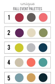 HOLLY WOULD: UNIQUE FALL EVENT COLOR PALETTES