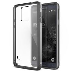 VRS Crystal Mixx Series Samsung Galaxy Note 4 Case - Dark Silver