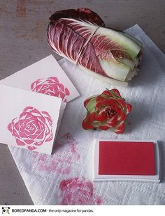 You can use the base of almost any fruit or vegetable to create a fun stamp - just experiment!
