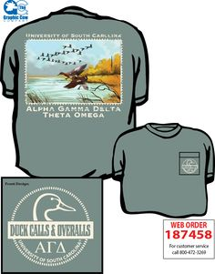 Alpha Gamma Delta Duck Calls and Overalls shirt by James