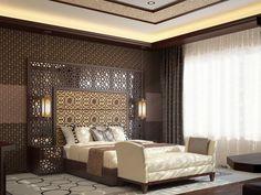hotelroom arabic style by Maruf Madiyarov, via Behance