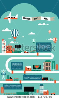 Factory Cityscape Info Graphics Charts, Symbols, Graphic Elements, Map Stock Vector 115795750 : Shutterstock