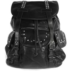 AM Landen PU Pleather Studded Backpacks School Bag Leisure Backpacks... ($17) ❤ liked on Polyvore featuring bags, backpacks, accessories, purses, mochilas, pu leather bag, pleather backpack, pu backpack, pu leather backpack and rucksack bag