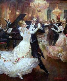 The Viennese Waltz is not a sequence dance, but an International Standard Ballroom style waltz that should be danced to faster music Victorian Paintings, Victorian Art, Russian Painting, Russian Art, Dance Paintings, Illustration Art, Illustrations, Shall We Dance, Classical Art