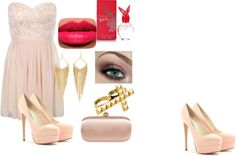 A fashion look from January 2013 featuring short pink dress, high heel pumps and rhinestone jewelry. Browse and shop related looks. Shoe Bag, Polyvore, Summer, Stuff To Buy, Accessories, Shopping, Collection, Design, Women
