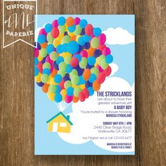 Up Themed Birthday Party Handmade Invitations Ideas