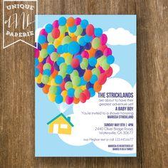 Up Themed Birthday Party Handmade Invitations Ideas
