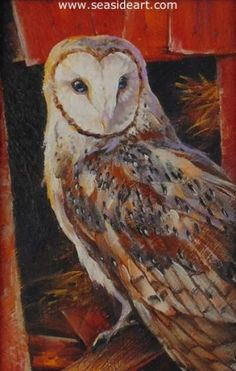 Barn Princess by Lauri Waterfield Callison. Oil painting 4″ x 2 1/2″ ; frame: 6″ x 4 1/2″. #art #artforsale