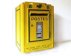 ORIGINAL French POST BOX Mid century Model Loft deco by LaLoupiote, $590.00