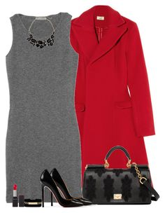 keep it simple by sasoula on Polyvore featuring polyvore, fashion, style, Tomas Maier, Issa, Christian Louboutin, H&M, Maison Margiela, Revlon, Dolce&Gabbana and clothing