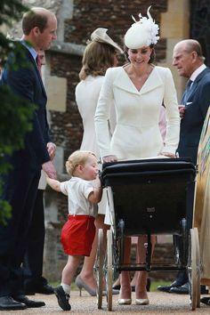 Prince George checks on Princess Charlotte