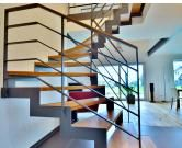 Stahltreppen | Treppenbau Becker Rustic Stairs, Metal Stairs, Modern Stairs, Staircase Railings, Staircase Design, Banisters, Balcony Railing Design, Interior Stairs, Contemporary Interior Design