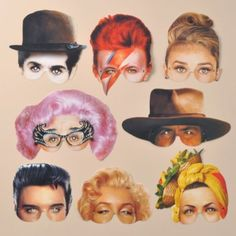 Idols of the 20th Century - Costume Masks - Set of 8