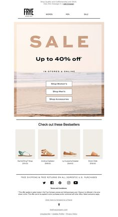 frye1 Email Design Inspiration, Email Newsletters, Web Browser, Accessories Shop, Best Sellers, How To Apply, Man Shop, Messages