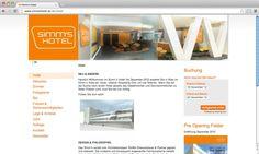 Für das zur List Group gehörende neue Budget-Design-Hotel »Simms« in Simmering hat echonet den passenden Webauftritt auf den Markt gebracht.  simmshotel.at / Startseite © echonet communication GmbH