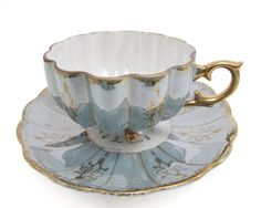 Royal Sealy Japan Lusterware Tri Footed Cup Saucer by WhatnotGems
