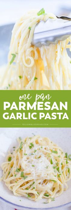 One Pan Garlic Parmesan Linguine Pasta (One Pot Pasta) - - One Pan Garlic Parmesan pasta is light enough to serve as a main dish, or as a side dish. It's a simple one pot pasta that's ready in 20 minutes! Food Dishes, Main Dishes, Egg Noodle Dishes, Egg Noodle Recipes, Garlic Parmesan Pasta, Parmesan Noodles, Parmesan Recipes, Garlic Recipes, Pasta Sides