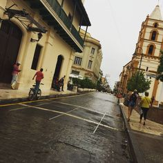 The streets of Cuba on a rainy day. #travel