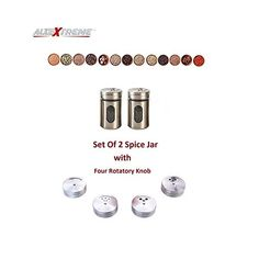 HIGH QUALITY – These Round Steel Cans are made from premium stainless steel which are durable to use,Set includes 2 spice bottle that hold BENEFIT: Small holes on the