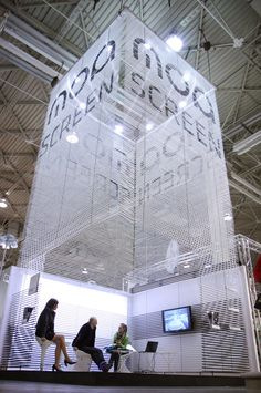 Fantastic booth design for expo. Inspiration for and at Eventinterface Exhibition Stall, Exhibition Stand Design, Exhibition Display, Stage Design, Event Design, Expo Stand, Environmental Design, Design Museum, Trade Show
