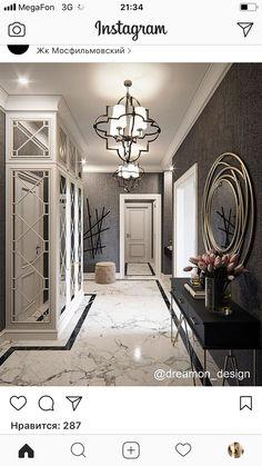 Home decoration ideas entrance 63 Ideas Classic Interior, Home Interior Design, Interior Architecture, Hallway Decorating, Entryway Decor, Interior Decorating, Flur Design, Small Hallways, Hallway Designs