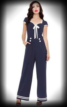 edea1ab7594 Voodoo Vixen Jumpsuit Overall - Jolene Sailor
