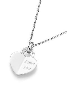 GIORGIO MARTELLO MILANO Kette mit Anhänger, »Herz/I love you« im Universal Online Shop Online Shop Kleidung, Mode Online Shop, Shops, Dog Tags, Dog Tag Necklace, Silver, Jewelry, Fashion, Morning Of Wedding