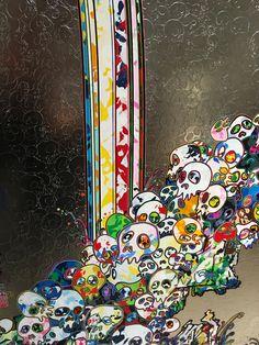 """村上隆の五百羅漢図展 坂井直樹の""""デザインの深読み"""" Takashi Murakami Art, Manga Anime, Anime Art, 4 Tattoo, Japanese Art, Akira, Concept Art, Rocks, Skull"""