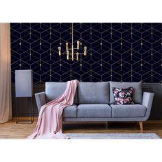 Gonvick Modern Geometrical L x W Peel and Stick Wallpaper Roll