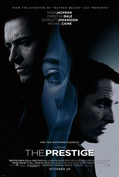 THE PRESTIGE movie review starring Christian Bale, Hugh Jackman, Scarlett Johansson, Michael Caine, and Rebecca Hall!