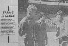 Dips Coach Gordon Bradley with Don Droege and Kip Germain, 1979.