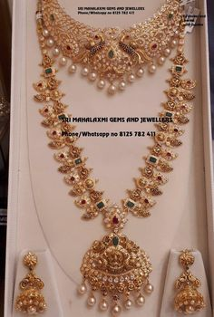 Bridal jewellery sets get best designs made in perfect finish. Presenting Mango haram with Czs nakshi choker and Jhumke. Visit for excellent designs at most competitive prices. Contact no 8125 782 13 March 2019 Gold Wedding Jewelry, Gold Jewelry Simple, Bridal Jewelry Sets, Bridal Jewellery, Silver Jewelry, Jewellery Box, Silver Rings, Jewellery Shops, Ear Jewelry