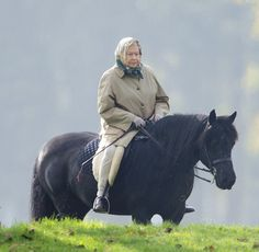 November 2, 2015. The Queen was seen out on a hack riding her favourite pony Carltonlima Emma, riding along the river bank in Windsor, Berkshire.