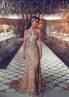 2019 One Shoulder Sequin Mermaid Evening Dresses Ruched Split Beaded Waistband Party Gowns Sweep Train Plus Size Prom Dresses Gorgeous Prom Dresses, Elegant Dresses, Sexy Dresses, Fashion Dresses, Formal Dresses, Long Dresses, Casual Dresses, Gala Dresses, Bridesmaid Dresses