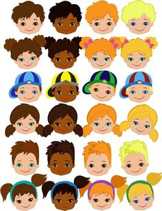 Doodle Kids and Faces. Big Bundle - Finance tips, saving money, budgeting planner Fabric Dolls, Paper Dolls, Bon Point, Clothespin Dolls, Classroom Crafts, Doll Face, Planner Stickers, Crafts For Kids, Doodle Kids