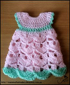 Small burial gown for prems, made as directed will fit 22-26 weeks gestation, but easy to adjust by enlarging hook/yarn size.