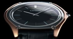 """Citizen called its new Eco-Drive watch """"One"""" because that's size of its movement--1 mm thick."""