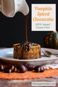 Delicious Vegan and Gluten Free Cheesecakes, with yummy Fall flavours of Pumpkin