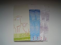 ひつじと毛糸柄のぽち袋のセット毛糸柄の裏面にも、仔羊のお顔があります|ハンドメイド、手作り、手仕事品の通販・販売・購入ならCreema。
