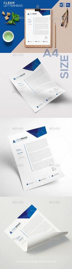 #Letterhead Template - #Stationery Print Templates