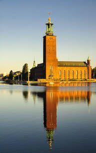 Stadshuset in Kungsholmen Uppsala, Gothenburg, San Francisco Ferry, Sweden, Around The Worlds, Country, City, Building, Travel