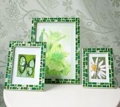 green frame set 5x7 frame 8x12 frame 4x6 frame mosaic frame set picture frame 5x7 photo frame 8x12 frame 4x6 green frame