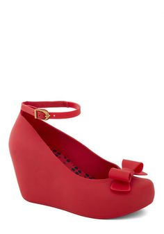 Another time I wish I was a tiny girl. I would rock the hell out of these. Cherry Jam Wedge, #ModCloth