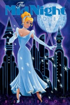 This Midnight Hour Cinderella limited edition giclee on canvas by Mike Kungl has Cindy in all her ballgown glamor, ready to steal Prince Charming's heart! Disney Kunst, Arte Disney, Disney Magic, Disney Pixar, Disney Characters, Disney Princesses, Disney Princess Art, Cinderella Disney, Midnight Cinderella