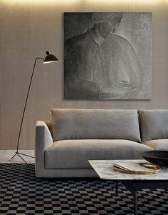 Corner sectional fabric sofa BRISTOL | Sectional sofa - Poliform